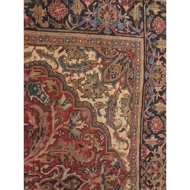 """Thick & Hearty Vintage Persian Ahar Area Rug - 7'3"""" x 10'5"""" - Image 7 of 11"""