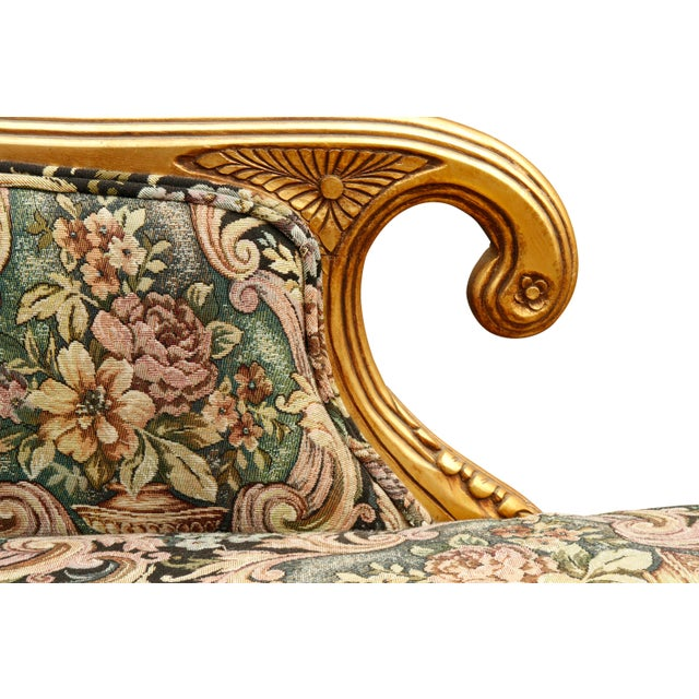Hollywood Regency Chaise Longue For Sale In New York - Image 6 of 10