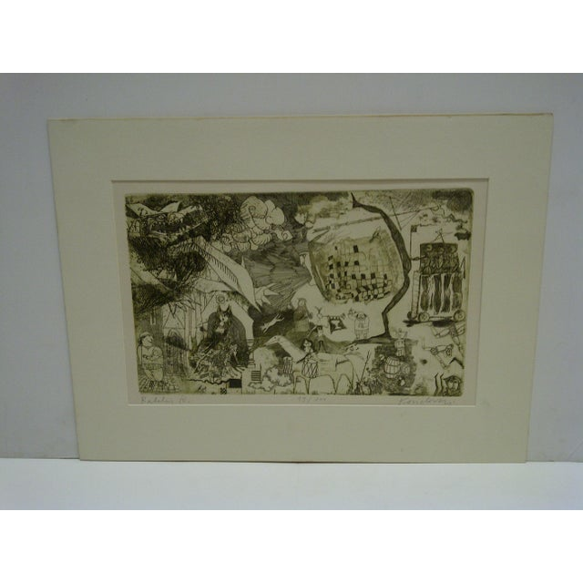 """This is a Limited Edition -- Numbered (49/100) And Signed Print -- Titled """"Ralelain IV"""" -- By Kondormi -- Circa 1980 --..."""