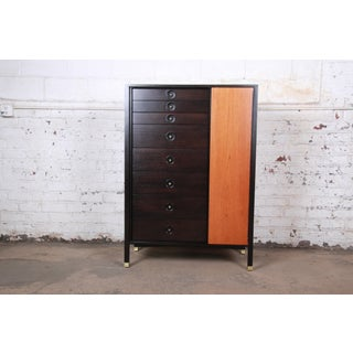 Harvey Probber Mid-Century Modern Gentleman's Chest in Teak, Mahogany, and Brass Preview