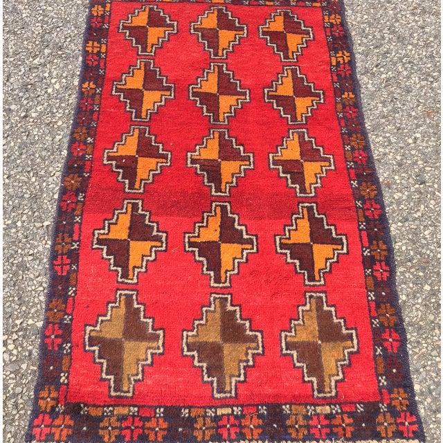 "Baluchi Hand Made Persian Rug - 2'6""x4'2"" - Image 2 of 7"