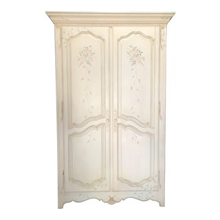 Ethan Allen Country French Painted Armoire For Sale