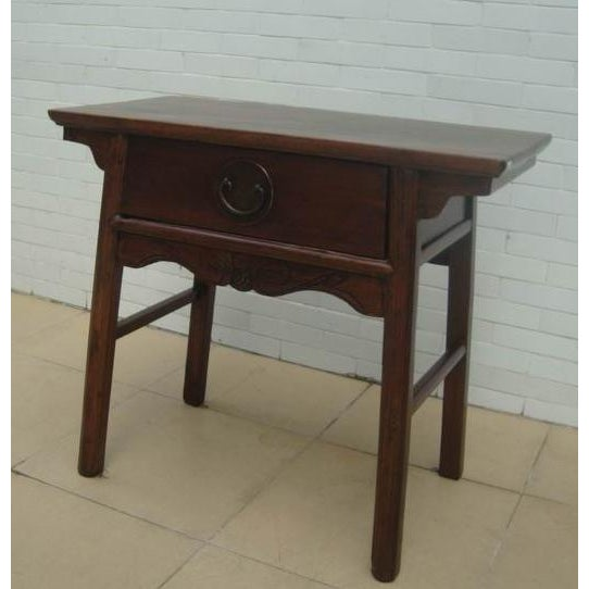 One Drawer Antique Console Table Chairish