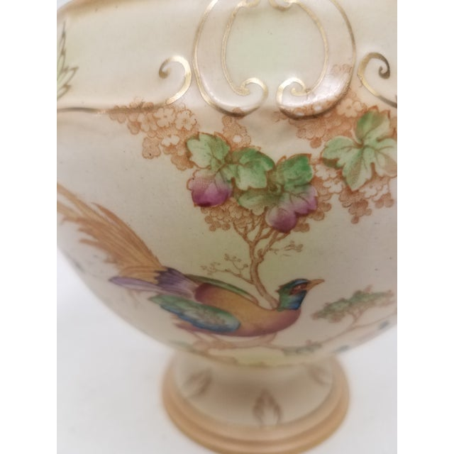 Cream Antique English Ornate Flower Frog For Sale - Image 8 of 11