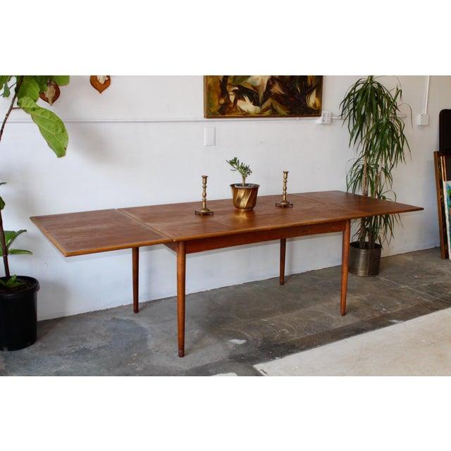 Teak 1960's Mid Century Modern Teak Extending Dining Table For Sale - Image 7 of 11