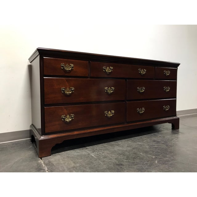 Georgian Hickory Chair James River Plantation Mahogany Double Dresser For Sale - Image 3 of 11