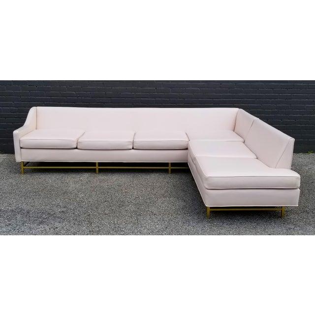 "Hollywood Regency Kipp Stewart and Stewart McDougall Mid-Century Modern ""Suncoast"" Sectional Sofa For Sale - Image 3 of 13"