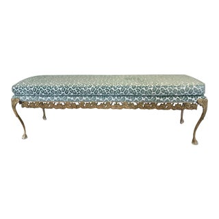 Long Cheetah Print Bench For Sale