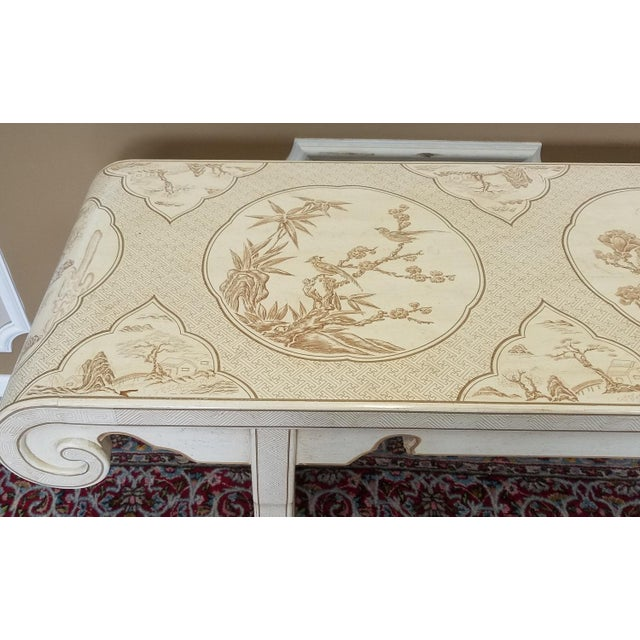 Drexel Heritage 1980s Drexel Heritage White Asian Ming Alter Console Table For Sale - Image 4 of 10