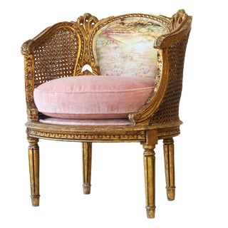 The Crown French Upholstered Chair For Sale