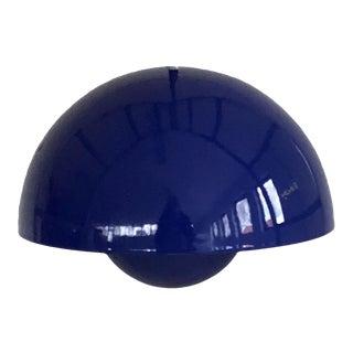 Verner Panton Danish 1st Edition Blue Flowerpot Pendant Light by Louis Poulsen For Sale