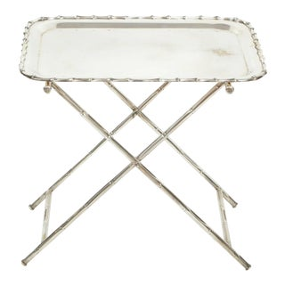 Silver Plate Dessert Tray on Stand
