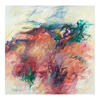 """Contemporary Abstract Acrylic Painting """"To Jump and Run and Play"""" by Mary Lou Siefker For Sale"""