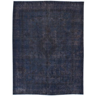 Vintage Overdyed Persian Rug For Sale