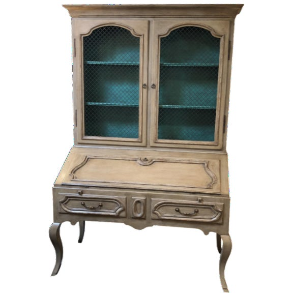 Minton Spidell Louis XV Hand Painted Secretary Desk For Sale