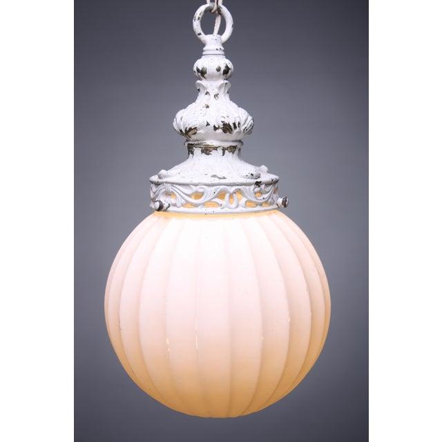 Antiqued White Globe Pendant - Image 3 of 5