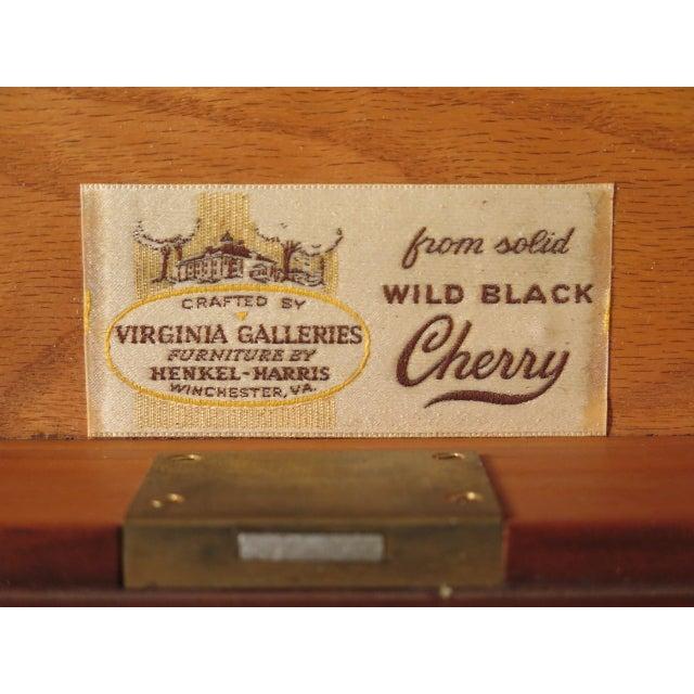 1980s Vintage Henkel Harris Philadelphia Queen Anne Cherry Highboy For Sale - Image 11 of 13