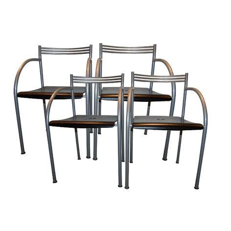 Philippe Starck Baleri Italia Francesca Chairs - 4 For Sale