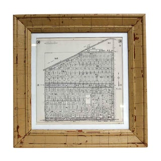 1952 Framed Map of Dade County Florida For Sale