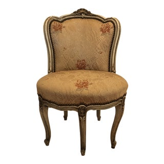 Early 20th Century Antique Louis XV Style Slipper Chair For Sale