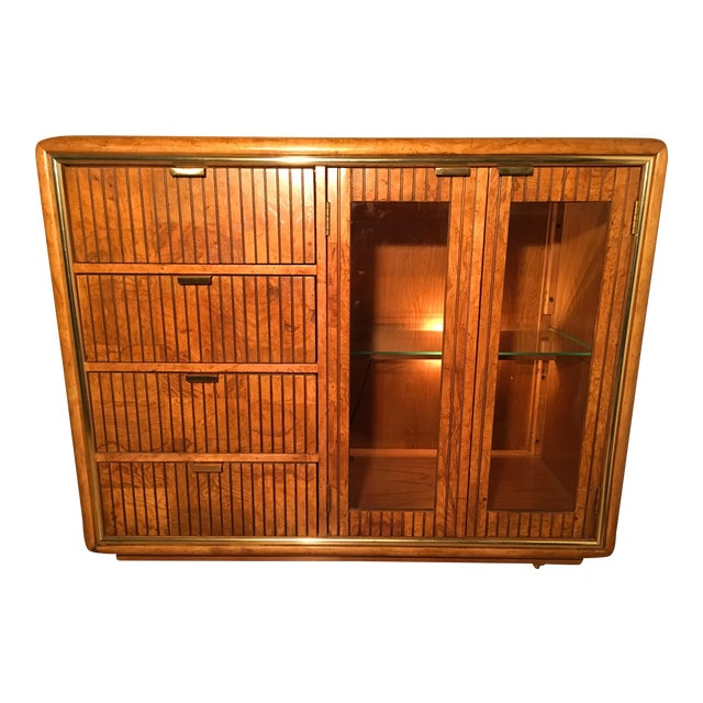 American of Martinsville Lighted Bar Cabinet - Image 1 of 10