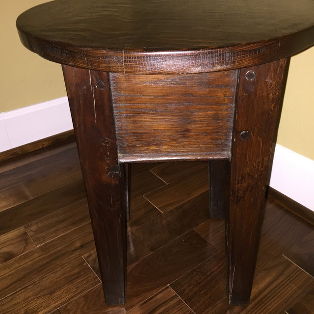19th Century Round Topped Side Table - Image 4 of 8