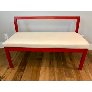 Asian Modern Red Lacquered and Leather Bench Preview