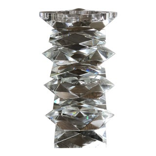 John Richard Stacked Crystal Candle Holder