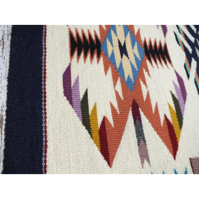 """Navajo Rug Storm Pattern, Lily Touchin -- 2'10"""" x 4'2"""" For Sale - Image 9 of 10"""