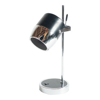 Black and Chrome Modern Lamp For Sale