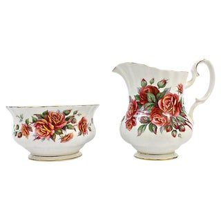 Fall Colors Royal Albert Sugar & Creamer