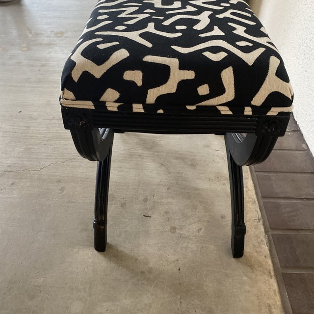 1980s Modern Black Bamboo Bench For Sale - Image 5 of 8