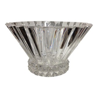 Mid 20th Century Rosenthal Crystal Fluted Art Deco Bowl For Sale