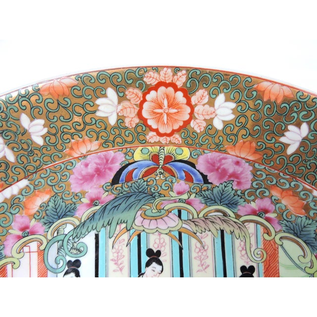 Asian Great Qianlong Rose Mandarin 'Chinese Warriors & Horses' Double Sided Charger/Plate For Sale - Image 3 of 9