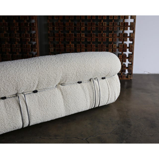 Afra & Tobia Scarpa Soriana Sofa for Cassina in Bouclé, Circa 1975 For Sale - Image 10 of 13