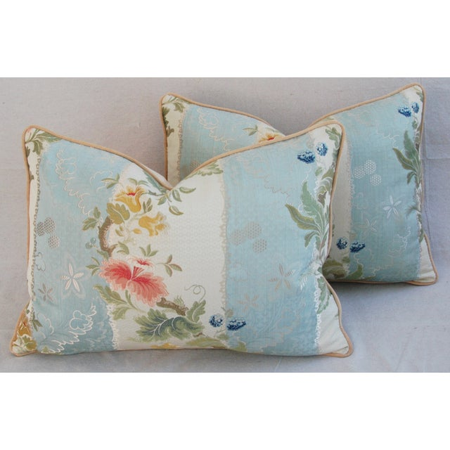 Scalamandre Silk Lampas Pillows - A Pair - Image 7 of 11