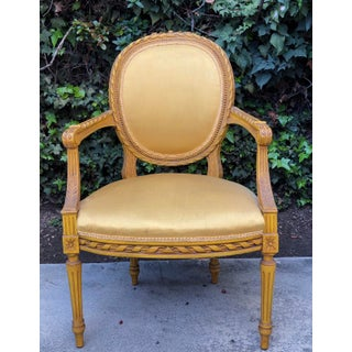 Late 19th Century Vintage Louis XVI Style Fauteuil Armchair Preview