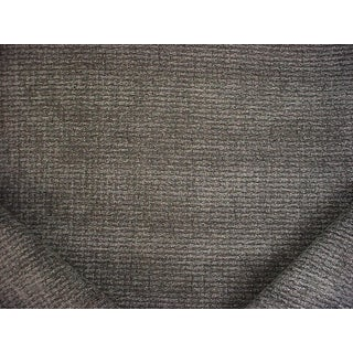 Traditional Brunschwig Et Fils Matrix Graphite Chenille Upholstery Fabric - 10-3/4y For Sale