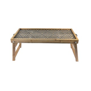 Geometric Design Breakfast Bed Tray With Folding Legs For Sale