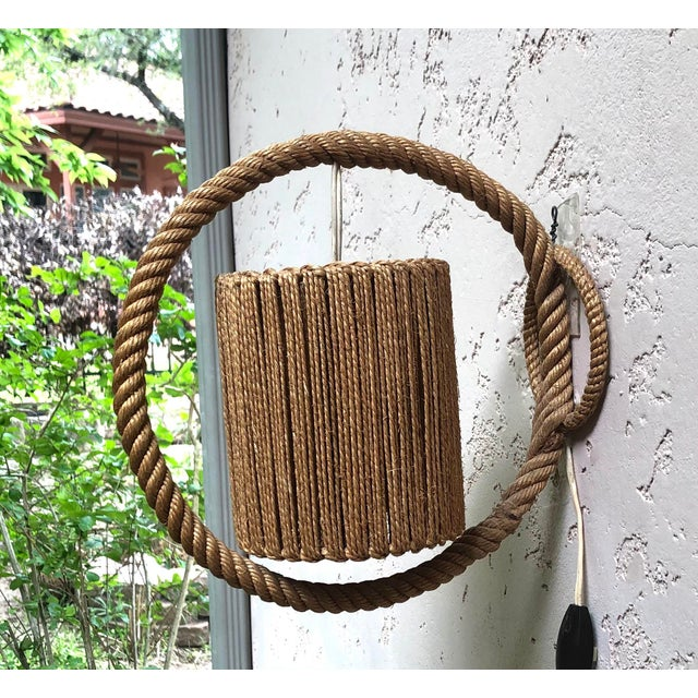 1960s Rope Sconce Audoux Minet, Circa 1960 For Sale - Image 5 of 6