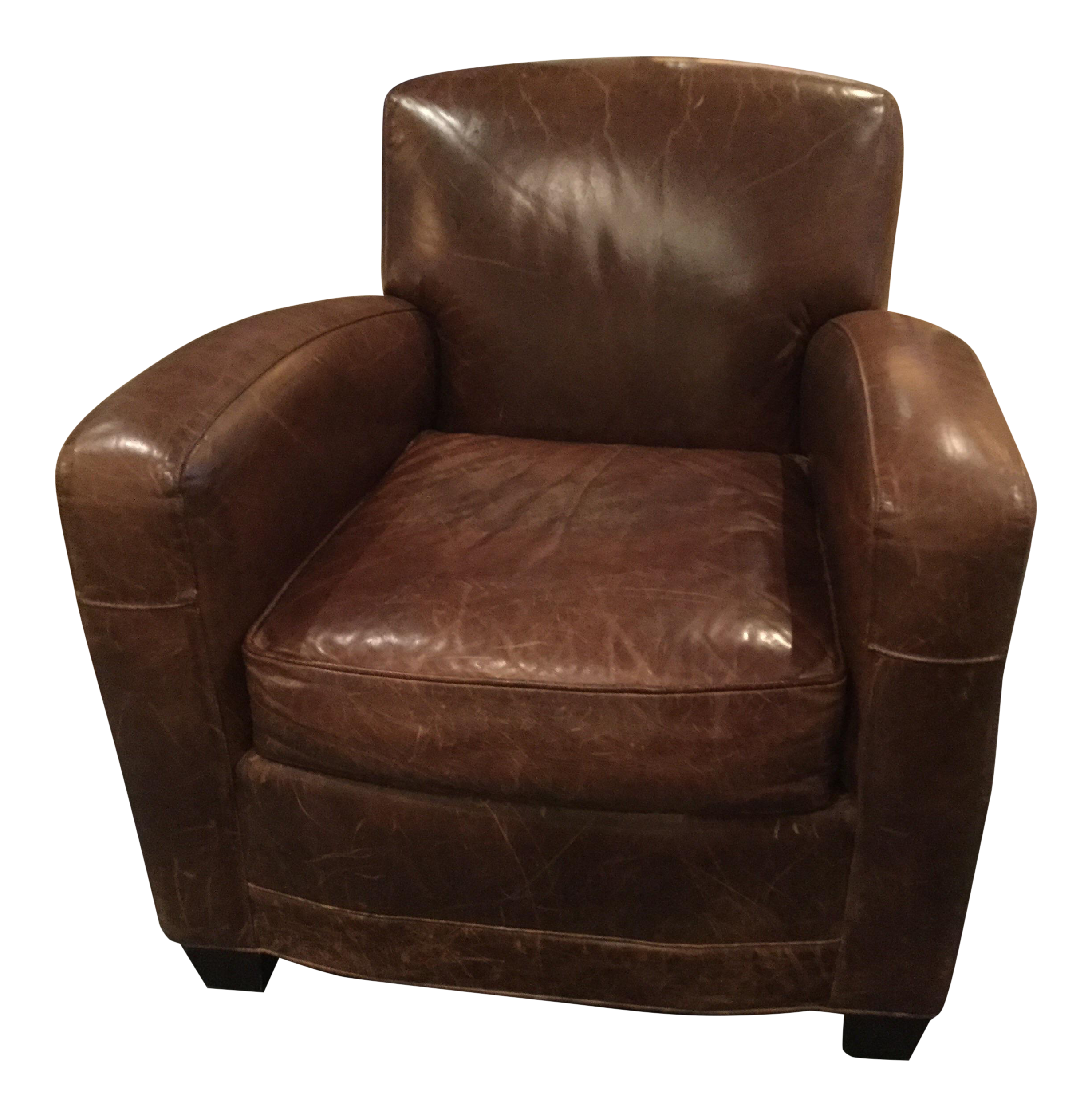 Mitchell Gold Leather Armchair Ellis