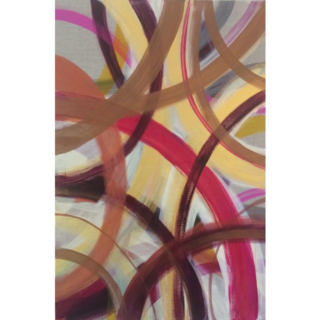 'AUTUMN' original abstract painting by Linnea Heide - Image 2 of 7
