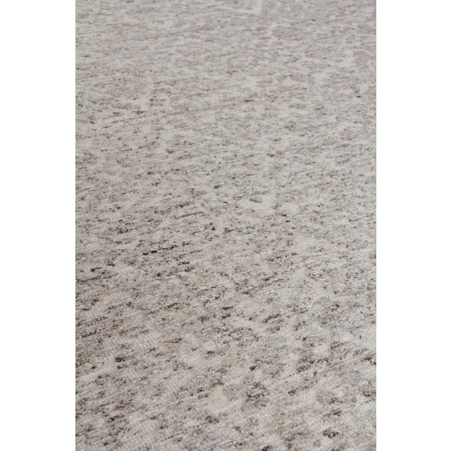"""Not Yet Made - Made To Order Sens Hand knotted Wool/Viscose Ivory/Gray Rug-10'x14"""" For Sale - Image 5 of 8"""