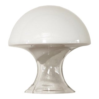 Mid Century Gino Vistosi Murano Glass Mushroom Table Lamp For Sale