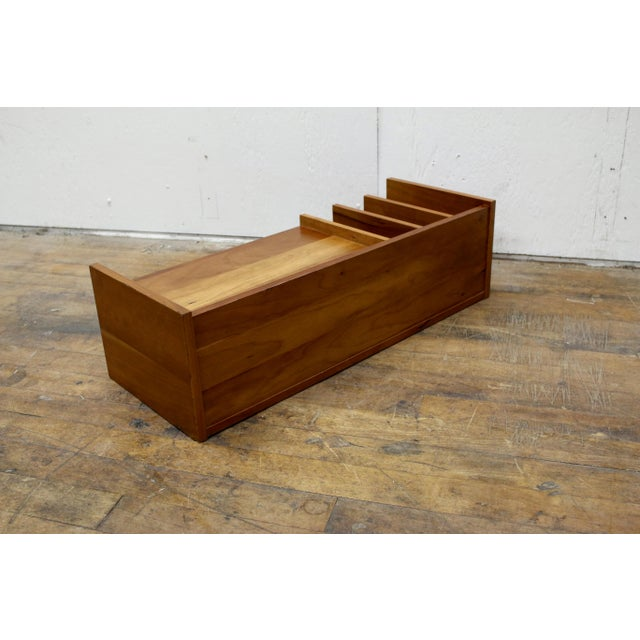 Pedersen & Hansen Mid Century Pedersen & Hansen Danish Desk Caddy Letter Tray Organizer 1960s For Sale - Image 4 of 8