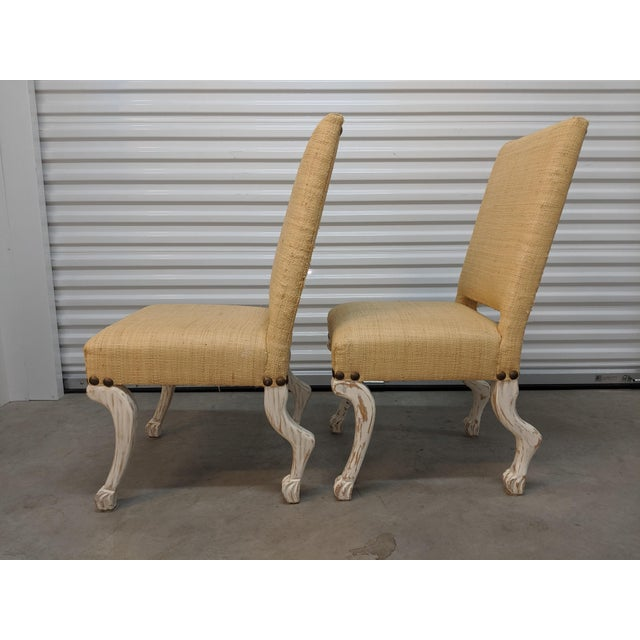 Custom Furniture Builders John Dickinson Style Chairs- A Pair For Sale - Image 4 of 12