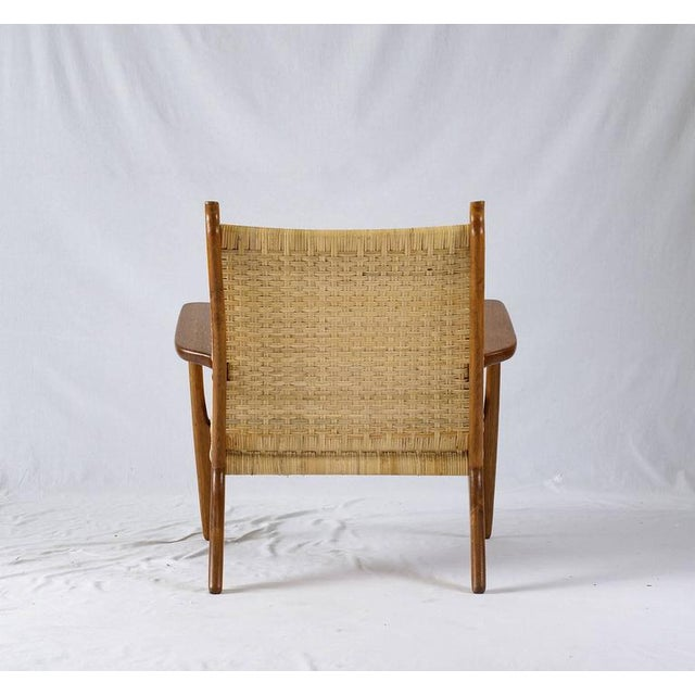 Wicker Hans Wegner CH-27 Lounge Chair For Sale - Image 7 of 10
