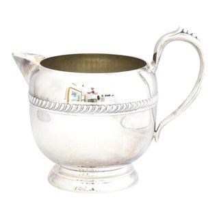1940s Silver on Copper Water Pitcher For Sale