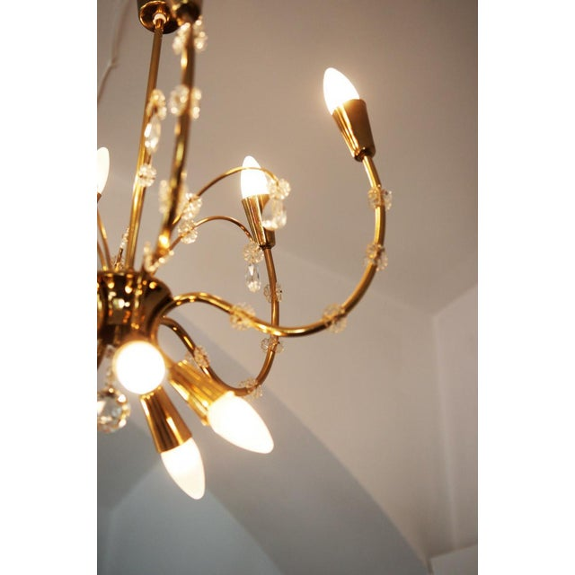 1950s Mid-Century Brass Chandelier by Emil Stehnar for Rupert Nikoll For Sale - Image 5 of 8