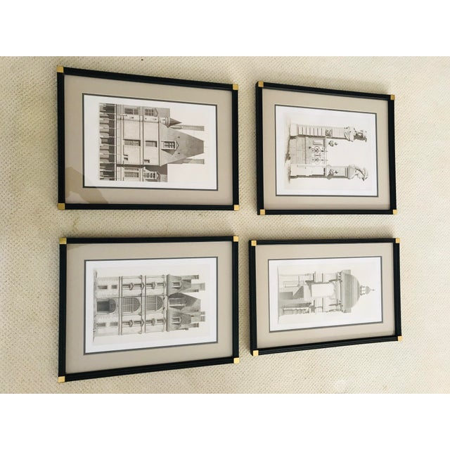 Traditional Antique Fontainebleau Architectural Framed Prints - Set of 9 For Sale - Image 3 of 13